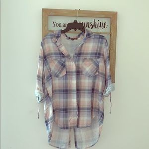 Velvet Heart Plaid Shirt